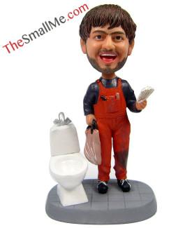 Toilet repair man
