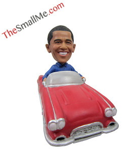 Drive the red car of Barack Obama