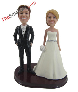 Easy style wedding bobbleheads 5623