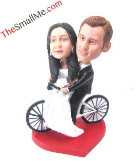 Bike wedding bobbleheads 5660