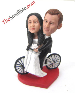 Bike wedding bobbleheads5702